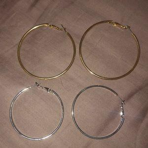 six pairs of hoops